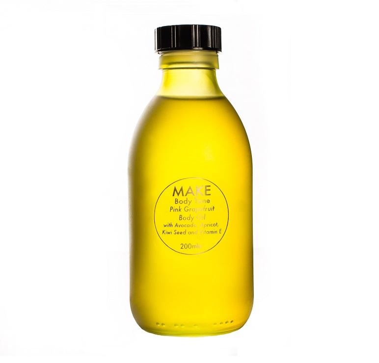 MAKE Body Tone PINK GRAPEFRUIT OIL BOTTLE