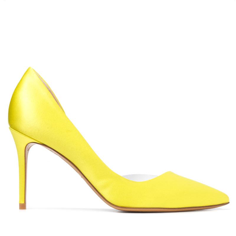 yellow heels, mustard heels, MYSHUBOX.COM---'LOTTIE'-half-d'orsay-pump-in-citrine-