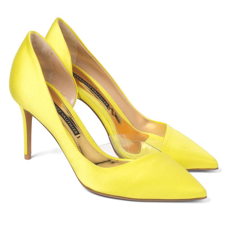 MYSHUBOX.COM---'LOTTIE'-half-d'orsay-pump-in-citrine- yellow heels, mustard heels